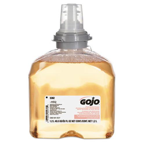 GOJO Premium Foam Antibacterial Hand Wash, Fresh Fruit Scent, 1200mL, 2/Carton (GOJ 5362-02)