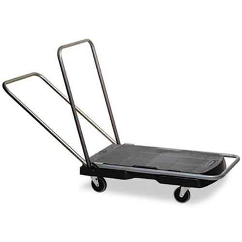 "Rubbermaid Utility-Duty Home/Office Cart, 250 lb Capacity, 20 1/2"" x 32 1/2"" Platform, BK (RCP 4400 BLA)"