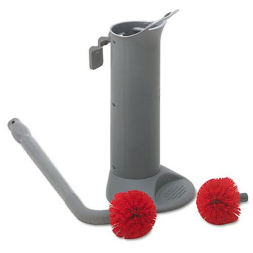 Unger Ergo Toilet Bowl Brush Complete: Wand, Brush Holder & 2 Heads (UNG BBWHR)