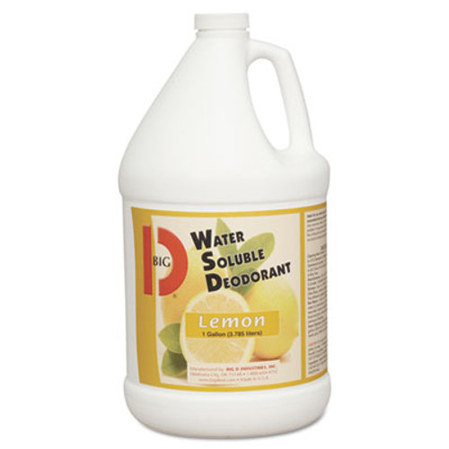 Big D Industries Water-Soluble Deodorant, Lemon Scent, 1gal Bottles, 4/Carton (BGD 1618)