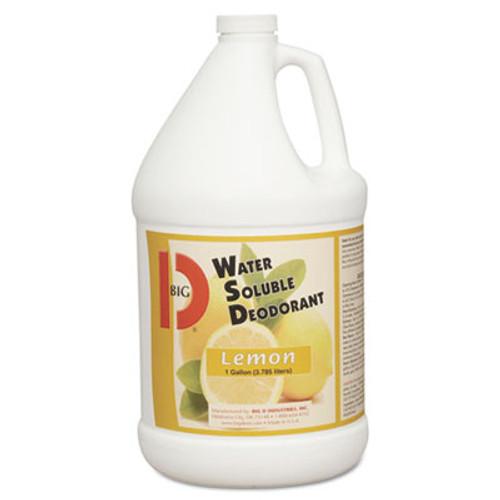 Big D Industries Water-Soluble Deodorant, Lemon Scent, 1gal Bottles, 4/Carton (BGD 1618)