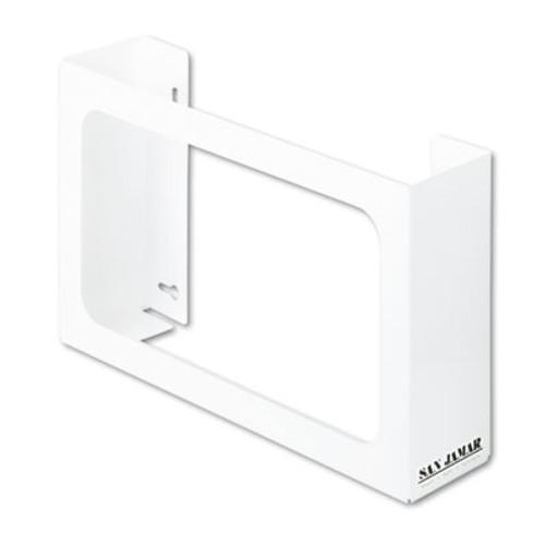 San Jamar White Enamel Disposable Glove Dispenser, Three-Box, 18w x 3 3/4d x 10h (SAN G0804)