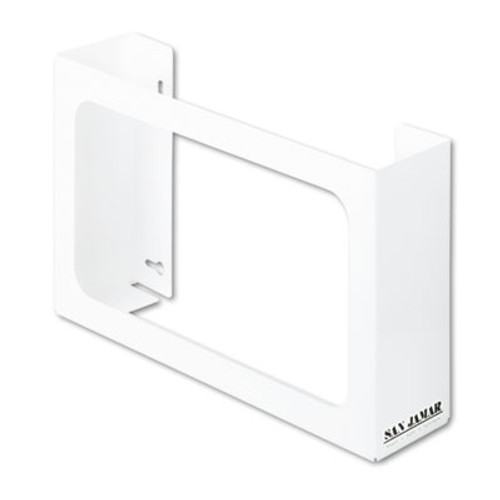 San Jamar White Enamel Disposable Glove Dispenser, Three-Box, 18w x 3 3/4d x 10h (SAN G0804)