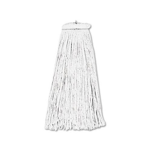 Boardwalk Cut-End Lie-Flat Wet Mop Head, Rayon, 16oz, White, 12/Carton (UNS 716R)