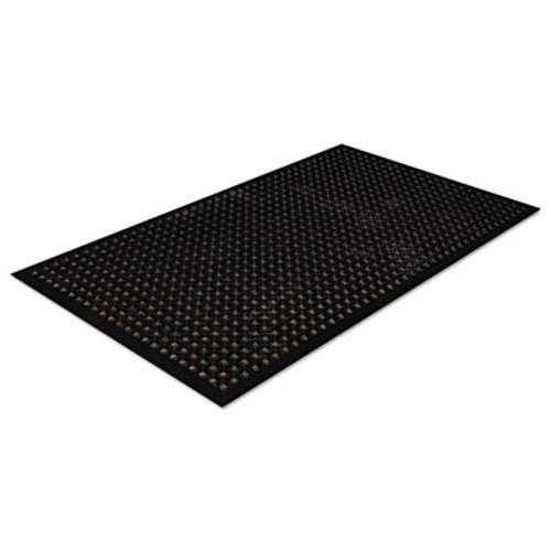 Crown Safewalk-Light Drainage Safety Mat, Rubber, 36 x 60, Black (CRO WSCT35 BLA)
