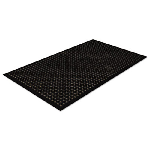 Crown Safewalk-Light Drainage Safety Mat, Rubber, 36 x 60, Black (CRO WSCT35 BLA)