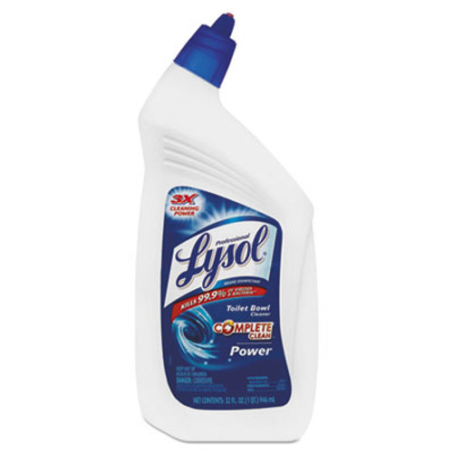 Professional LYSOL Disinfectant Toilet Bowl Cleaner, 32oz Bottle, 12/Carton (REC 74278)