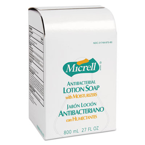 MICRELL Antibacterial Lotion Soap Refill, Liquid, Light Scent, 800mL, 12/Carton (GOJ 9757-12)