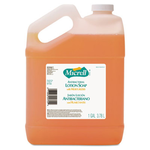 MICRELL Antibacterial Lotion Soap, Light Scent, 1gal Bottle, 4/Carton (GOJ 9755)