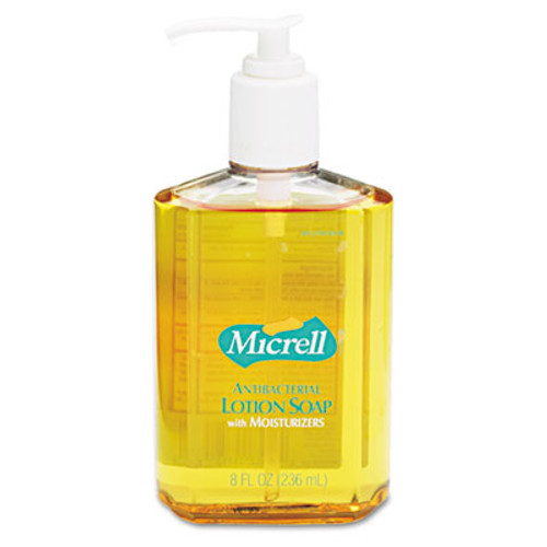 MICRELL Antibacterial Lotion Soap, Light Scent, 8oz Pump, 12/Carton (GOJ 9752)