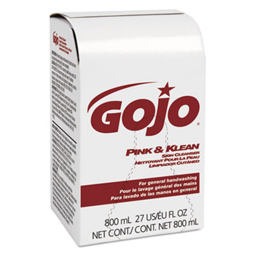GOJO Pink and Klean Skin Cleanser 800mL Dispenser Refill, Floral, 12/Carton (GOJ 9128-12)