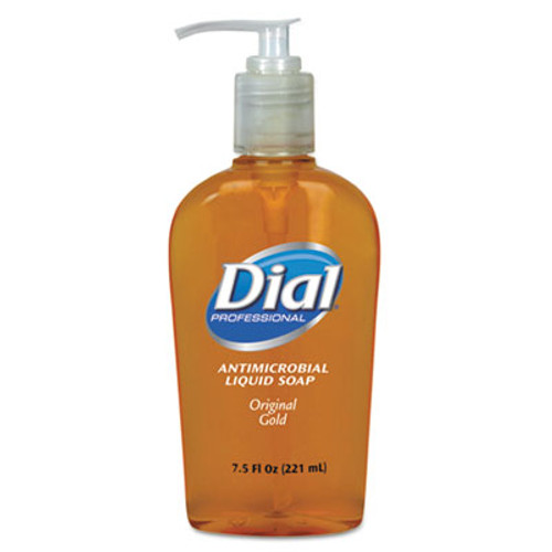 Dial Gold Antimicrobial Hand Soap, Floral Fragrance, 7.5oz Pump Bottle, 12/Carton (DIA 84014)