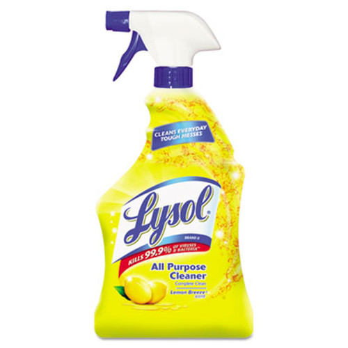 LYSOL Ready-to-Use All-Purpose Cleaner, Lemon Breeze, 32oz Spray Bottle, 12/Carton (REC 75352)
