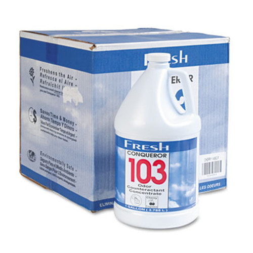 Fresh Products Conqueror 103 Odor Counteractant Concentrate, Cherry, 1 gal Bottle, 4/Carton (FRS 1-WB-CH)