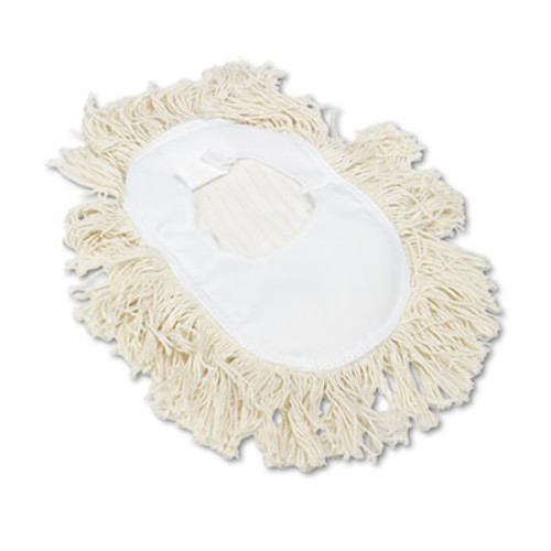 Boardwalk Wedge Dust Mop Head, Cotton, 17 1/2l x 13 1/2w, White (UNS 1491)