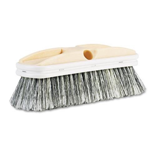 "Boardwalk Polystyrene Vehicle Brush w/Vinyl Bumper, 2 1/2"" Bristles, 10"" Brush (BWK 8410)"