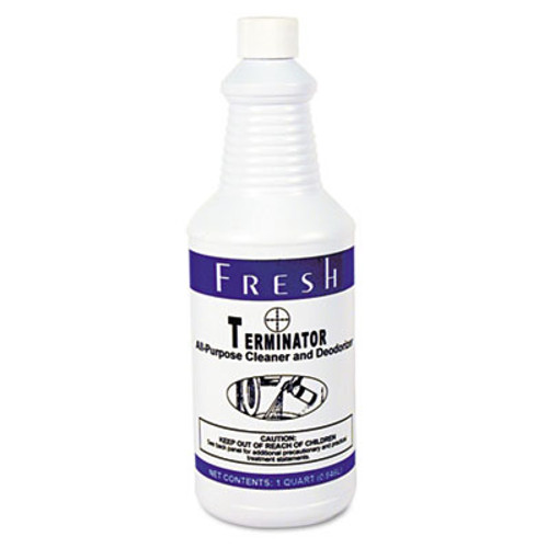 Fresh Products Terminator Deodorizer All-Purpose Cleaner, 32oz Bottles, 12/Carton (FRS 12-32-TN)