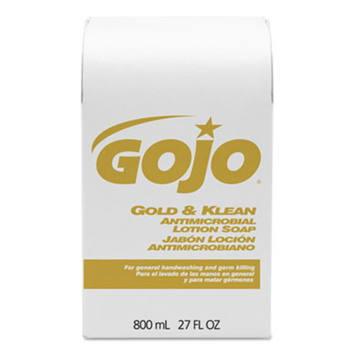 GOJO Gold and Klean Lotion Soap Bag-in-Box Dispenser Refill, Floral Balsam, 800mL (GOJ 9127-12)