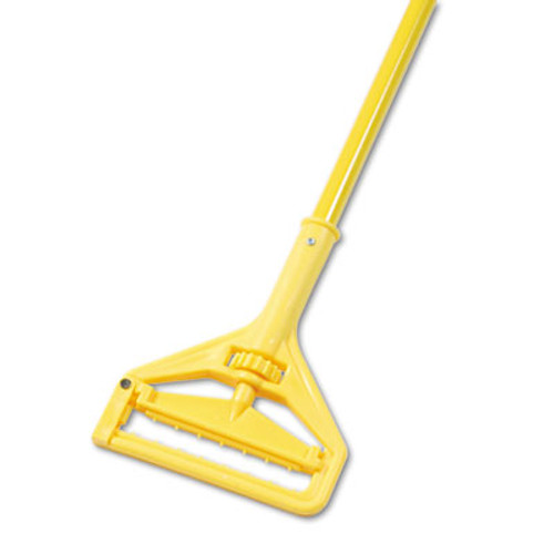 "Boardwalk Quick Change Side-Latch Plastic Mop Head Handle, 60"" Aluminum Handle, Yellow (UNS 620)"
