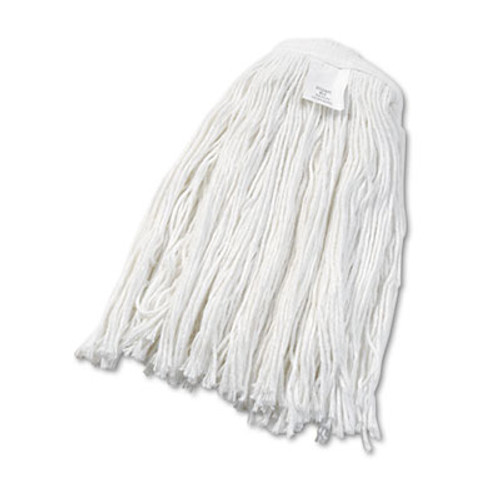 Boardwalk Cut-End Wet Mop Head, Rayon, No. 24, White, 12/Carton (UNS 2024R)