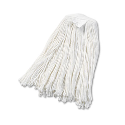 Boardwalk Cut-End Wet Mop Head, Rayon, No. 20, White, 12/Carton (UNS 2020R)