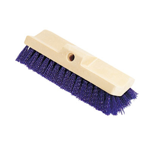 Rubbermaid Commercial Bi-Level Deck Scrub Brush, Polypropylene Fibers, 10 Plastic Block, Tapered Hole (RCP 6337 BLU)