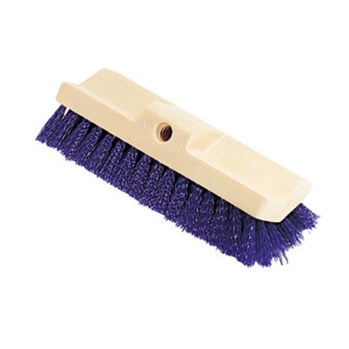 Rubbermaid Bi-Level Deck Scrub Brush, Polypropylene Fibers, 10 Plastic Block, Tapered Hole (RCP 6337 BLU)