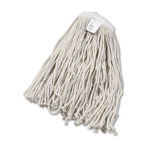Boardwalk Cut-End Wet Mop Head, Cotton, White, #20, 12/Carton (UNS 2020C)