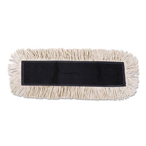 Boardwalk Disposable Cut End Dust Mop Head, Cotton/Synthetic, 24w x 5d, White (UNS 1624)