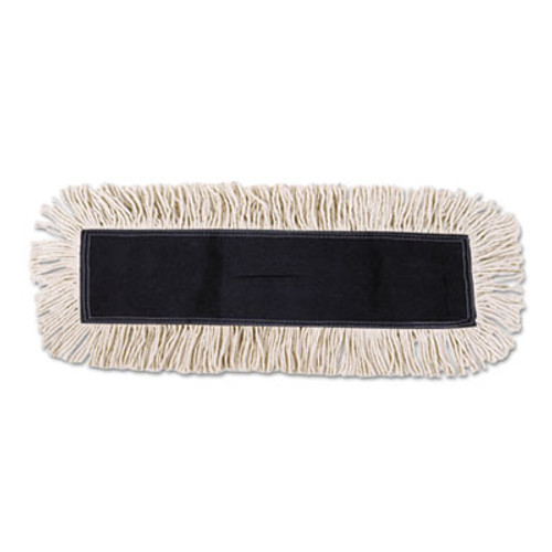 Boardwalk Disposable Cut End Dust Mop Head, Cotton/Synthetic, 24w x 5d, White (UNS 1624)