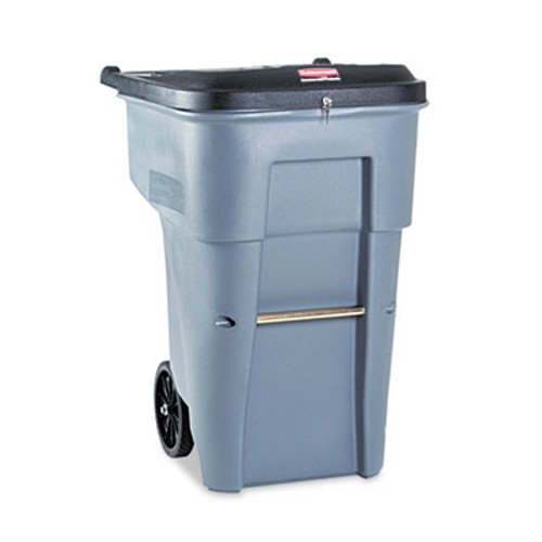 Rubbermaid Brute Confidential Document Roll-Out Container, Square, Poly, 65gal, Gray (RCP 9W10-88 GRA)