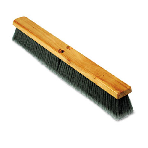 "Boardwalk Floor Brush Head, 3"" Gray Flagged Polypropylene, 24"" (BWK 20424)"