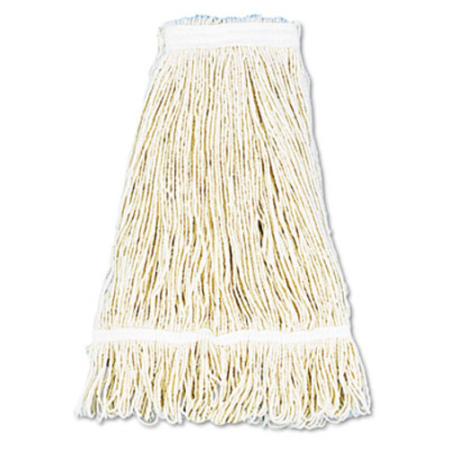 Boardwalk Pro Loop Web/Tailband Wet Mop Head, Cotton, 24oz, White, 12/Carton (UNS 424C)