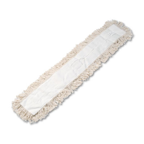Boardwalk Industrial Dust Mop Head, Hygrade Cotton, 48w x 5d, White (UNS 1348)