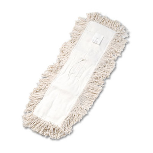 Boardwalk Industrial Dust Mop Head, Hygrade Cotton, 24w x 5d, White (UNS 1324)
