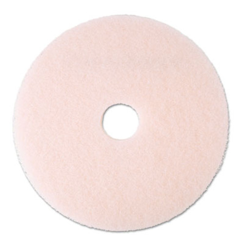 """3M Ultra High-Speed Eraser Floor Burnishing Pad 3600, 20"""", Pink, 5/Carton (MCO 25858)"""