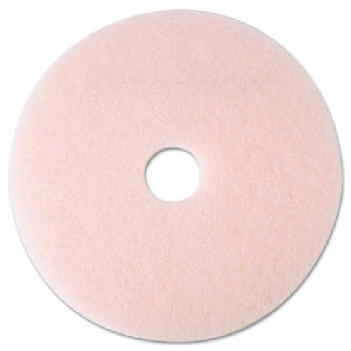"3M Ultra High-Speed Eraser Floor Burnishing Pad 3600, 19"" Diameter, Pink, 5/Carton (MCO 25857)"