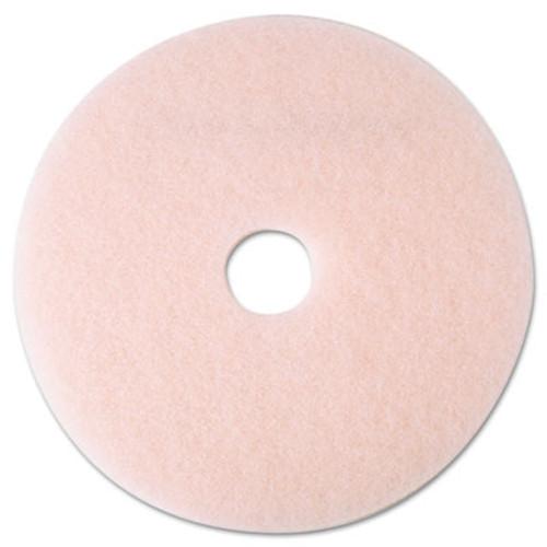 """3M Ultra High-Speed Eraser Floor Burnishing Pad 3600, 19"""" Diameter, Pink, 5/Carton (MCO 25857)"""