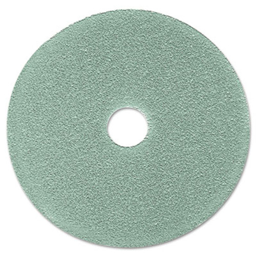 "3M Burnish Floor Pad 3100, 19"" Diameter, Aqua, 5/Carton (MCO 08752)"