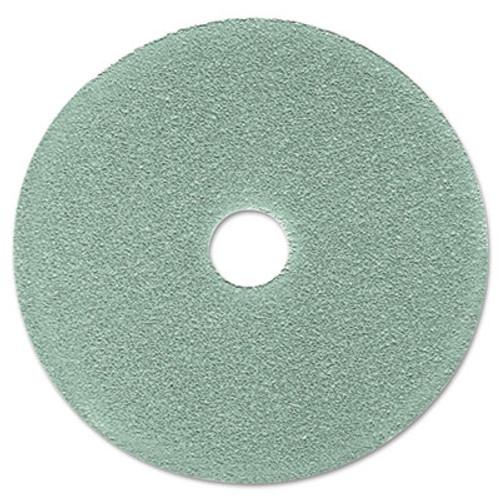 """3M Burnish Floor Pad 3100, 19"""" Diameter, Aqua, 5/Carton (MCO 08752)"""