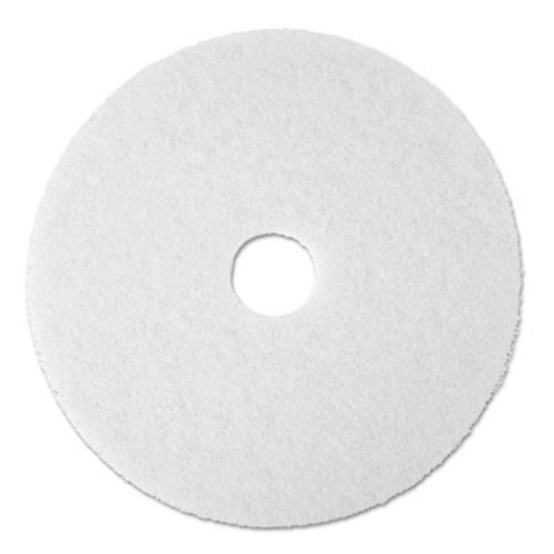 "3M Super Polish Floor Pad 4100, 20"" Diameter, White, 5/Carton (MCO 08484)"