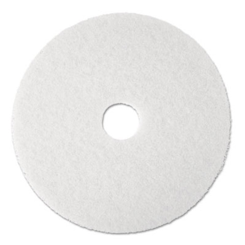 "3M Super Polish Floor Pad 4100, 19"" Diameter, White, 5/Carton (MCO 08483)"