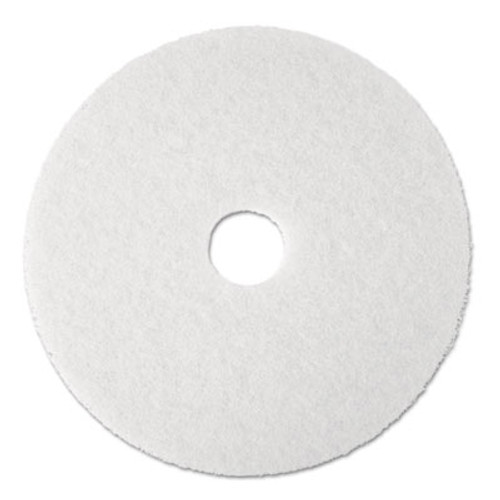 "3M Super Polish Floor Pad 4100, 17"" Diameter, White, 5/Carton (MCO 08481)"