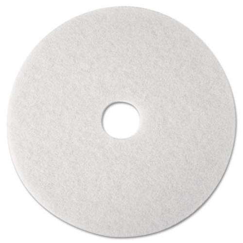 """3M Super Polish Floor Pad 4100, 12"""" Diameter, White, 5/Carton (MCO 08476)"""