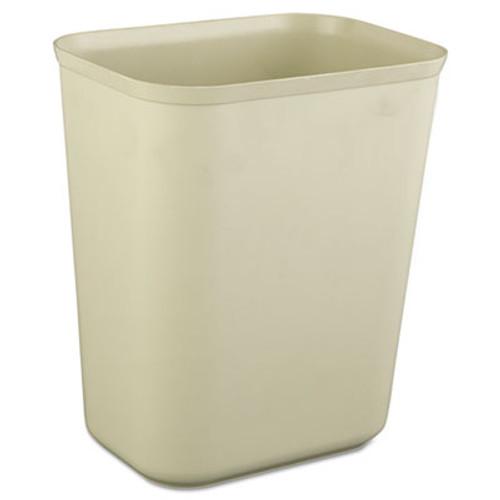 Rubbermaid Fire-Resistant Wastebasket, Rectangular, Fiberglass, 1.75gal, Beige (RCP 2540 BEI)