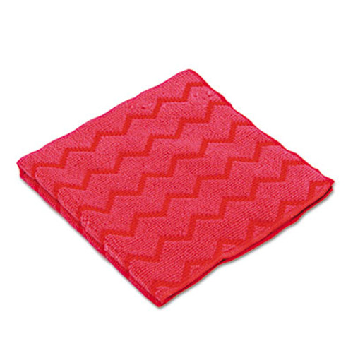 Rubbermaid HYGEN Microfiber Cleaning Cloths, 16 x 16, Red, 12/Carton (RCP Q620 RED)