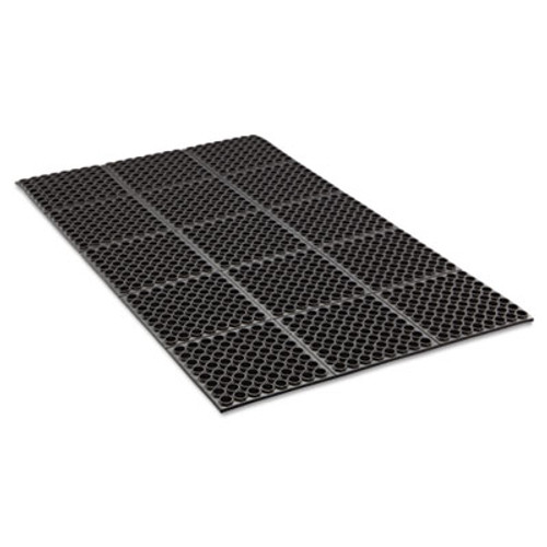 Crown Safewalk Heavy-Duty Anti-Fatigue Drainage Mat, General Purpose, 36 x 60, Black (CRO WSTF35 BLA)