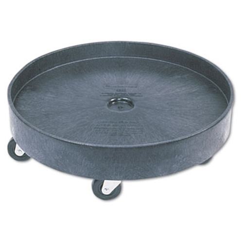 Rubbermaid Brute Container Universal Drum Dolly, 500lb, Black (RCP 2650 BLA)