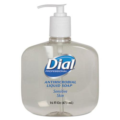 Dial Antimicrobial Soap for Sensitive Skin, 16oz Pump Bottle, 12/Carton (DIA 80784)