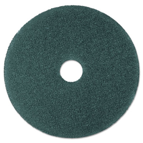 """3M Cleaner Floor Pad 5300, 19"""" Diameter, Blue, 5/Carton (MCO 08412)"""